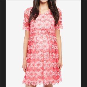 Motherhood Maternity Pink Lace Dress